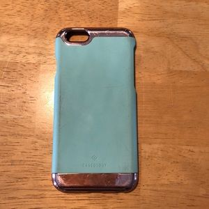 Accessories - Blue and rose gold caseology iPhone 6/6s case